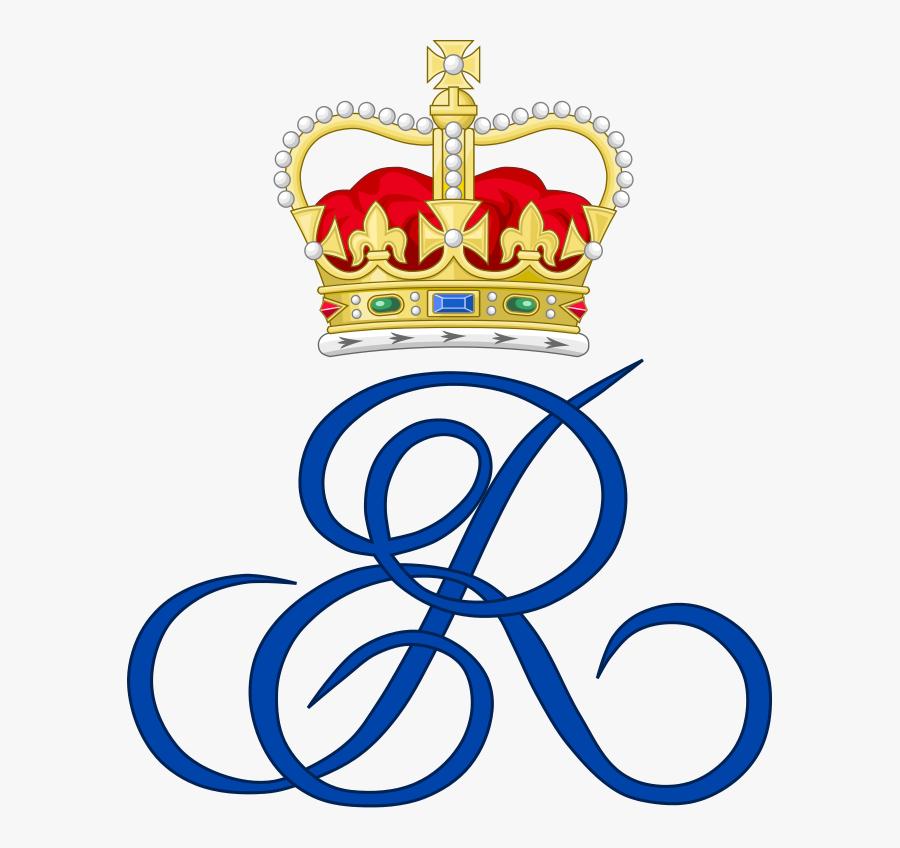 Fileroyal Monogram Of Queen Elizabeth Ii Of Great Britain - Queen Elizabeth Ii Monogram, Transparent Clipart