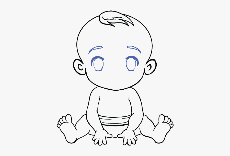 How To Draw Baby - Easy Drawing Of Baby, Transparent Clipart