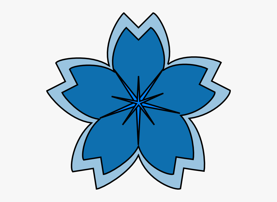 Sakura Flower Blue Png, Transparent Clipart