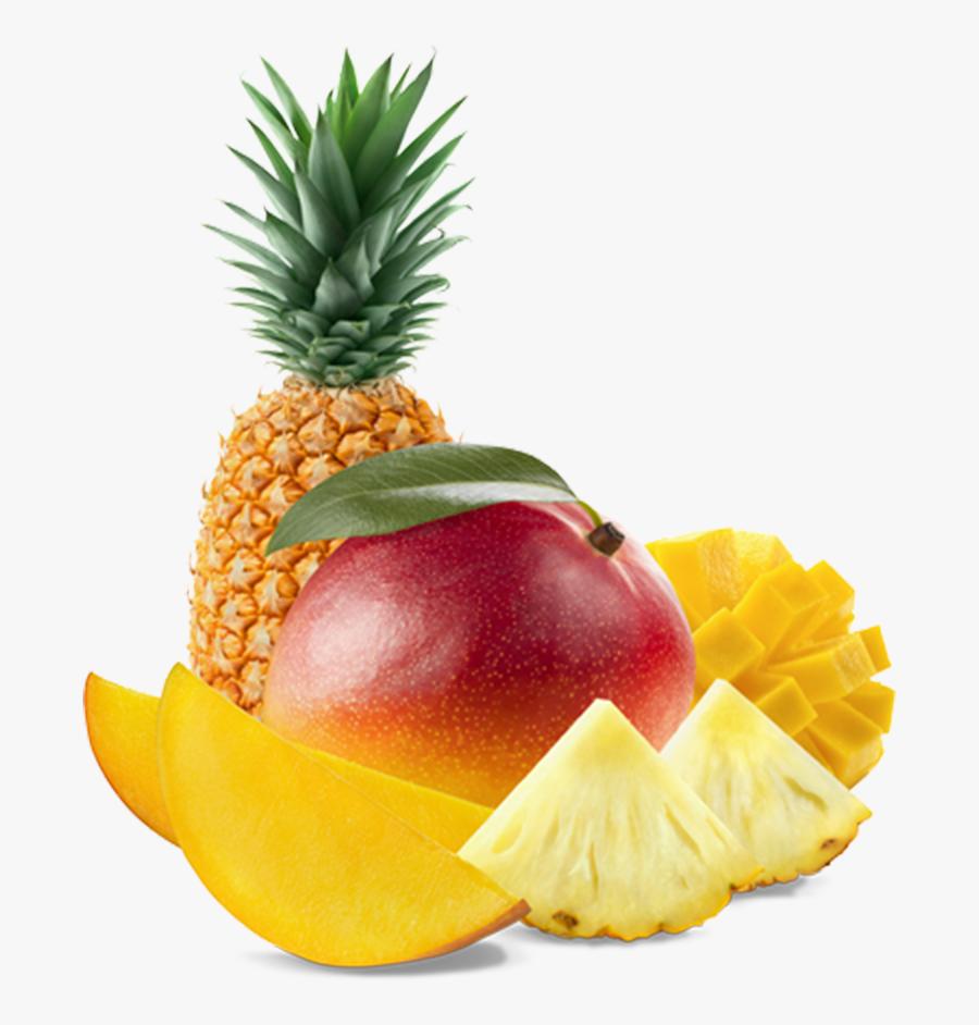 Juice Fruit Salad Pineapple Mango Tropical Fruit - Tropical Fruit Transparent Background, Transparent Clipart
