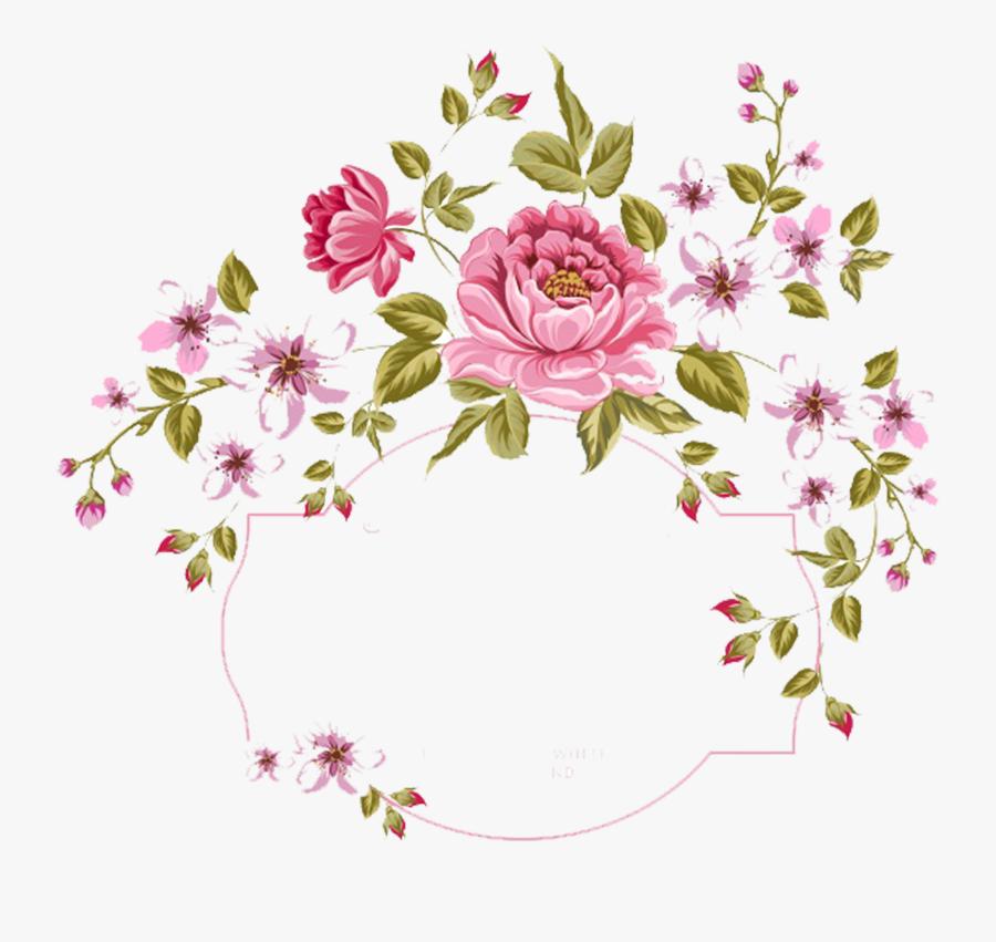 Small Flowers Png - Marco De Flores Vintage Png, Transparent Clipart
