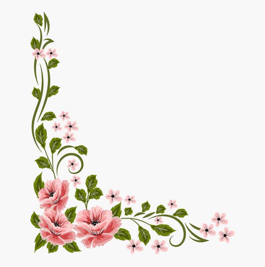 Flores Vector Small Flower - Flower Corner Border Design Png, Transparent Clipart