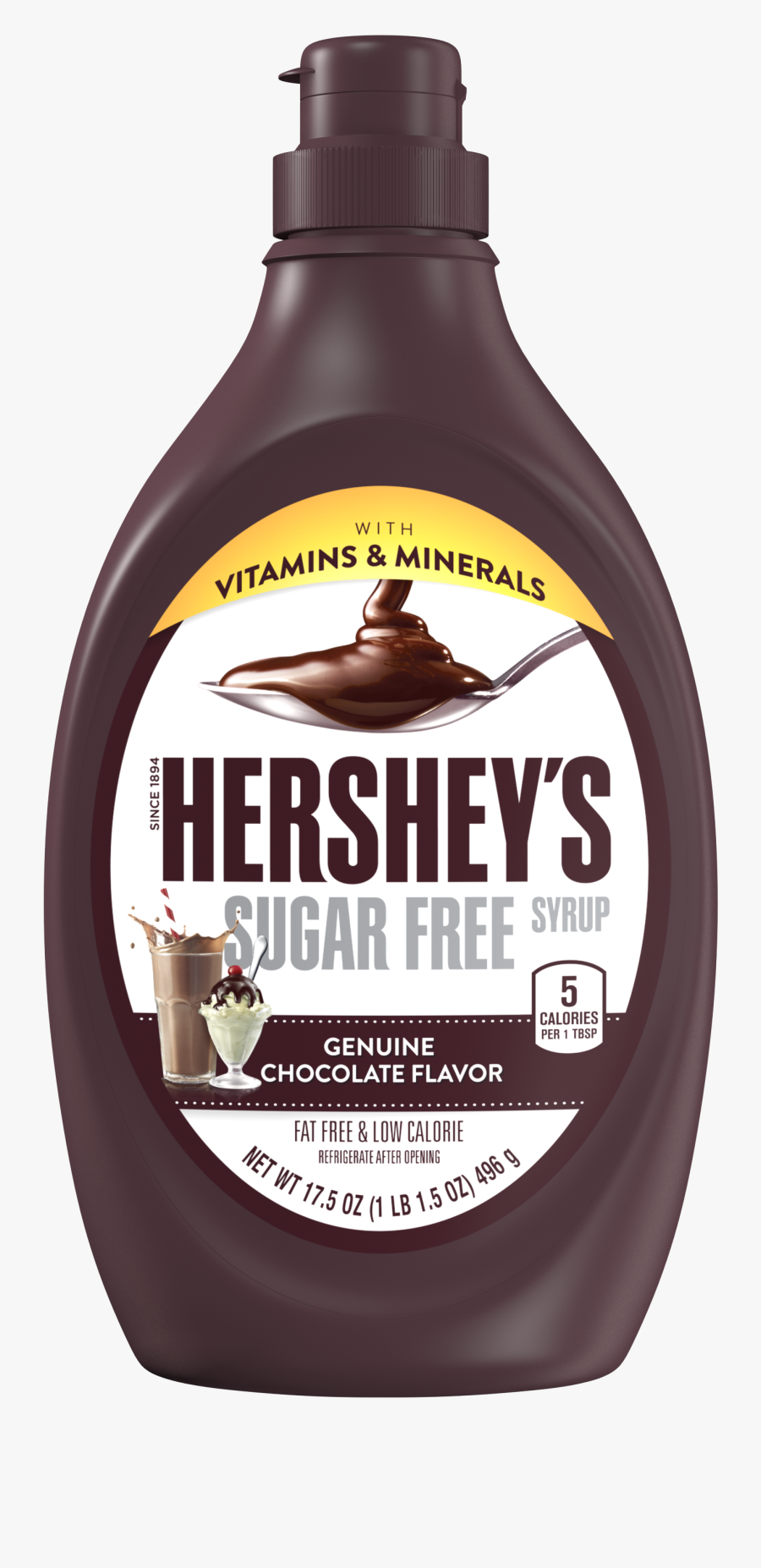 """Syrup Clipart Hershey""""s - Hersheys Chocolate Syrup No Background, Transparent Clipart"""