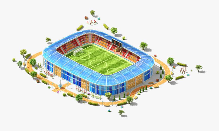 Transparent Baseball Park Clipart - Soccer-specific Stadium, Transparent Clipart