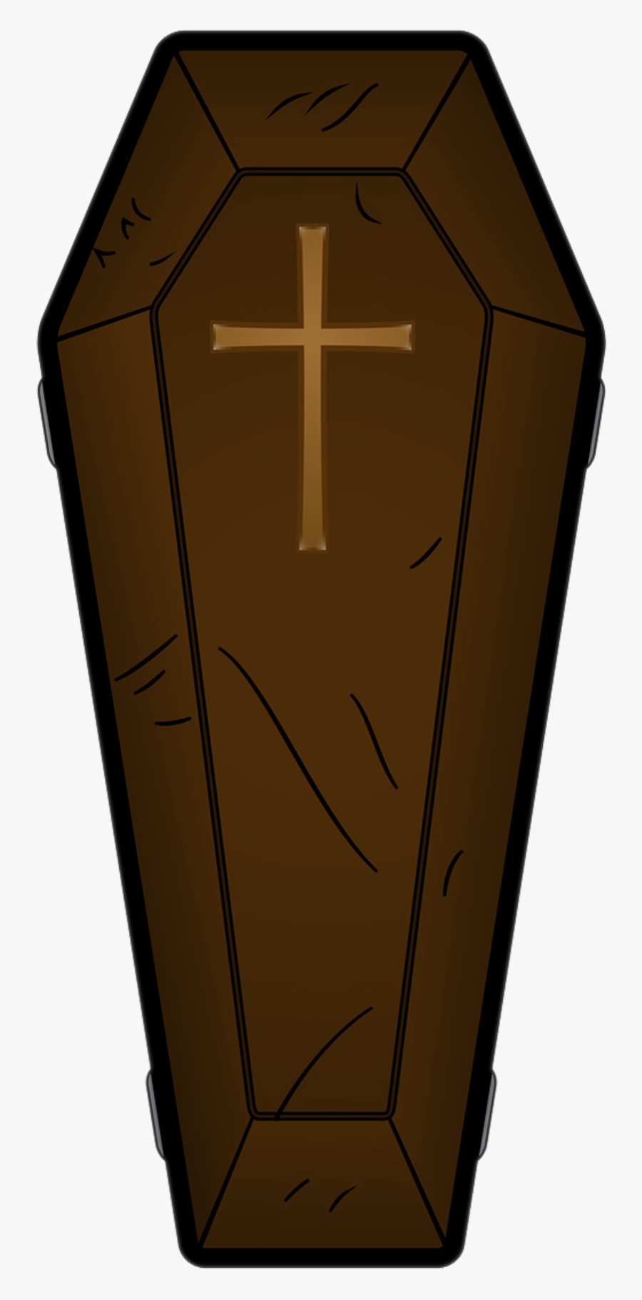 Halloween Brown Png Picture - Clipart Coffin, Transparent Clipart