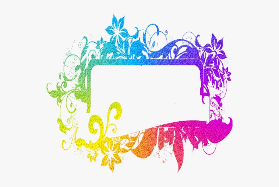 Neon Colored Floral Frame Framed Wallpaper, Neon Colors, - Neon Colored Floral Frame, Transparent Clipart