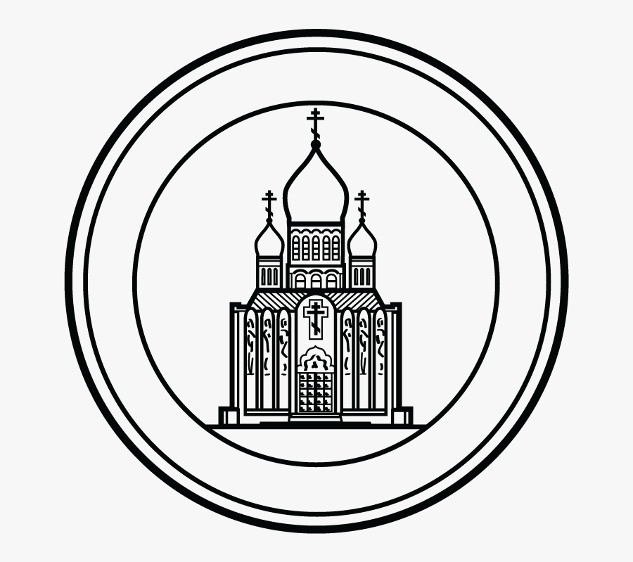 Parish Seal/stamp Design For Landmark, Holy Virgin - Line Art, Transparent Clipart