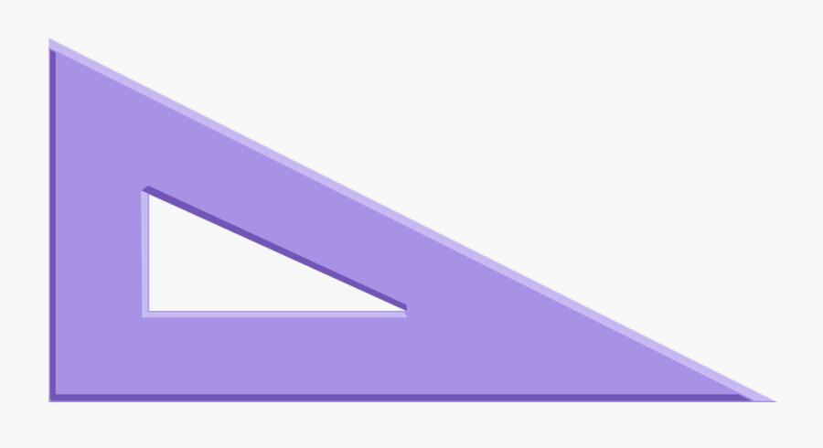 Transparent Angle Clipart - 60 30 Set Square, Transparent Clipart