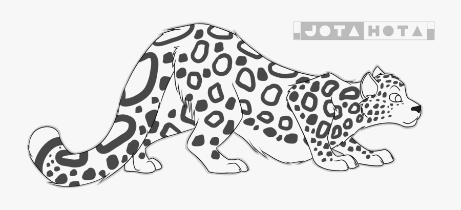 X Marks The Spot Lineart - Free Snow Leopard Base, Transparent Clipart