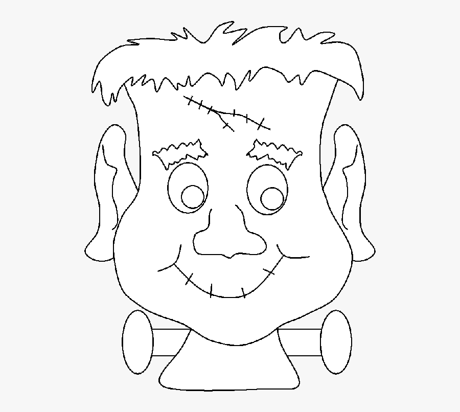 Halloween Monster Coloring Pages 2 Frankenstein Mask To Colour Free Transparent Clipart Clipartkey