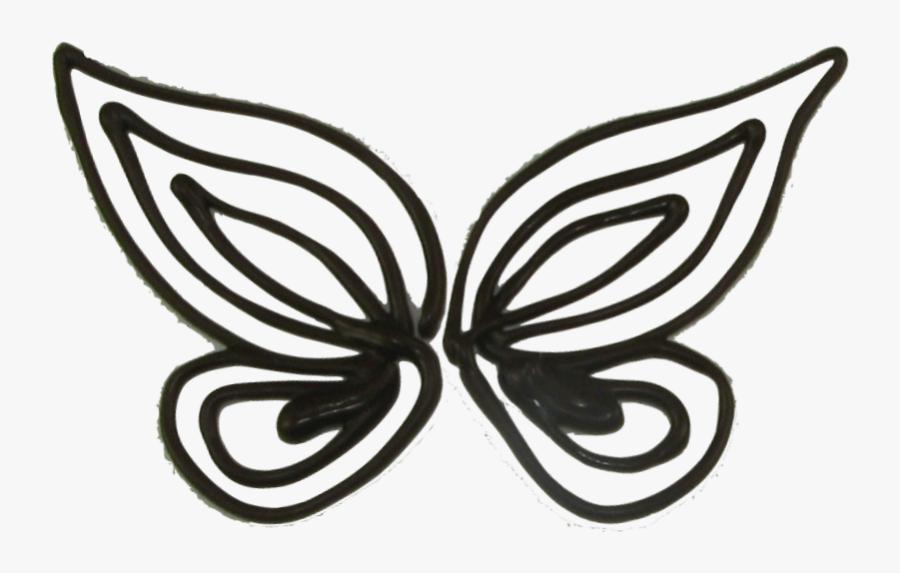 Chocolate Butterflies Template - Chocolate, Transparent Clipart