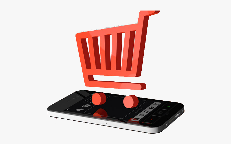 Shopping Network Phone Mobile Cart E-commerce Taobao - Online Shopping, Transparent Clipart