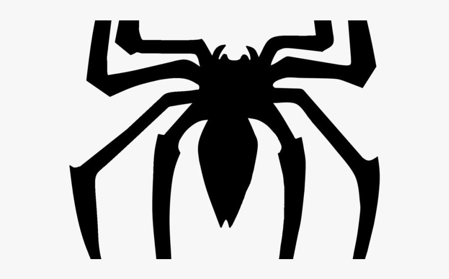 Spiderman Clipart Spiderman Symbol - Spiderman Logo Black And White, Transparent Clipart
