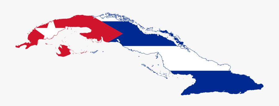 Cuba Flag Map, Transparent Clipart