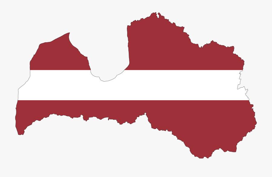 Austria Flag Vector - Latvia Map Clipart, Transparent Clipart