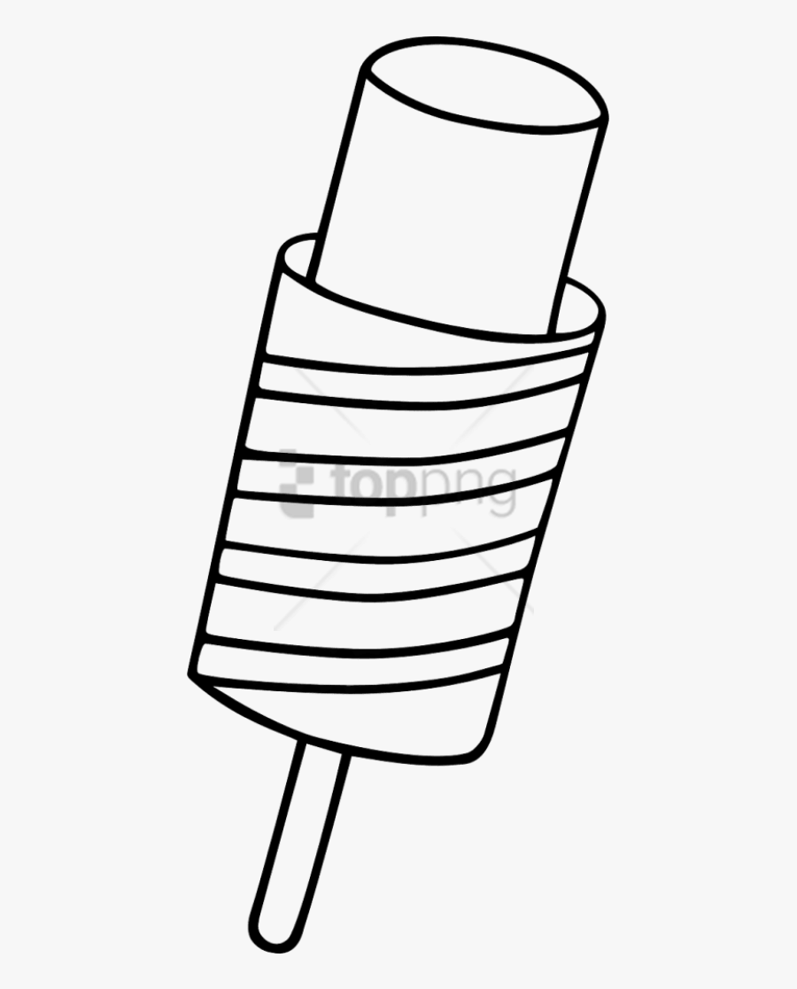 Free Png Popsicle,ice - ไอ ติ ม ระบายสี, Transparent Clipart