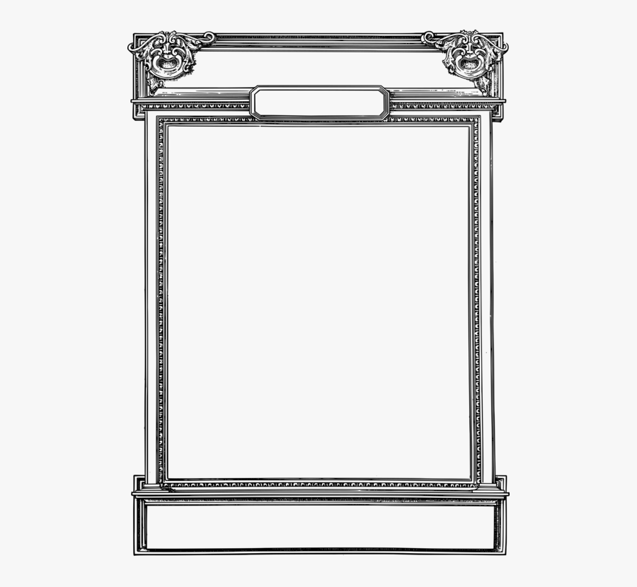 Picture Frame,square,angle - Line Art, Transparent Clipart