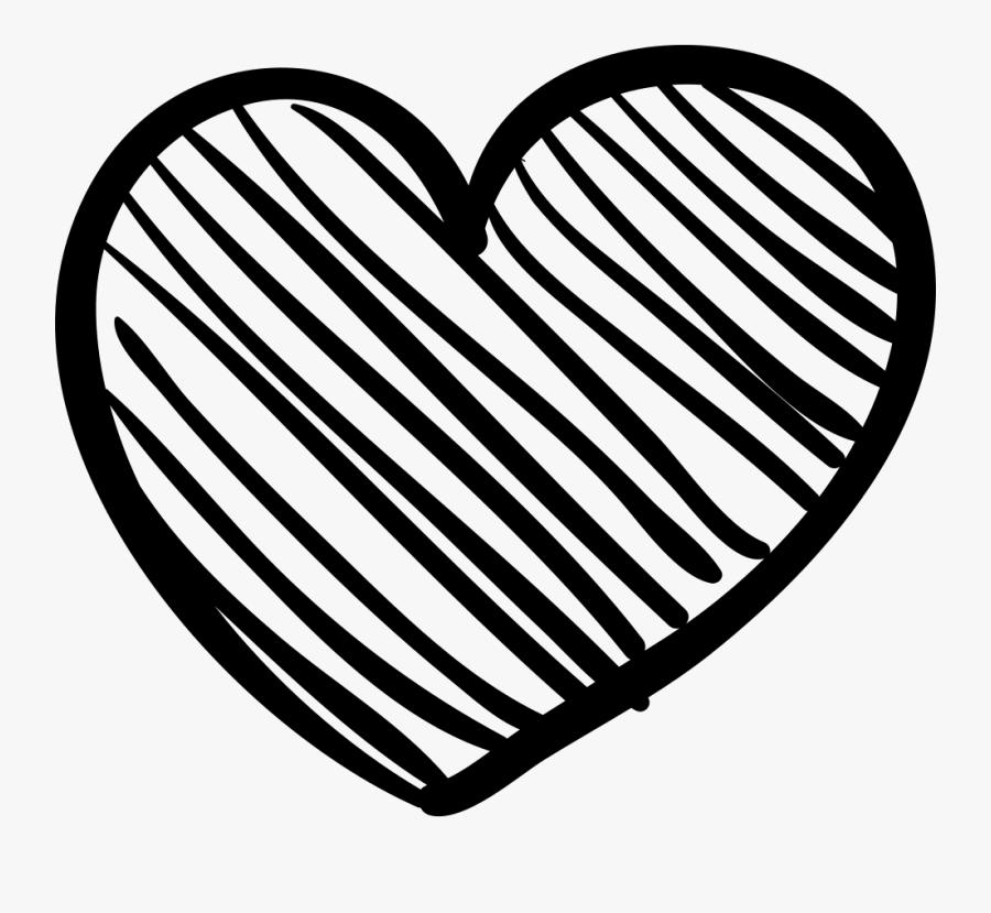 Transparent Crayon Scribble Clipart - Heart Sketch Icon ...