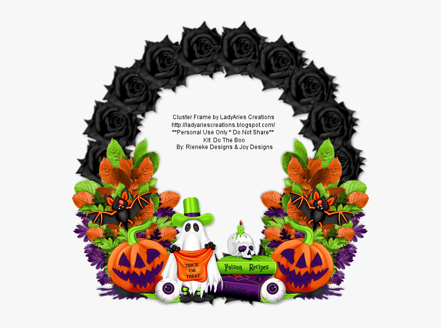 Halloween Png Borders - Cluster Frame Halloween Png, Transparent Clipart