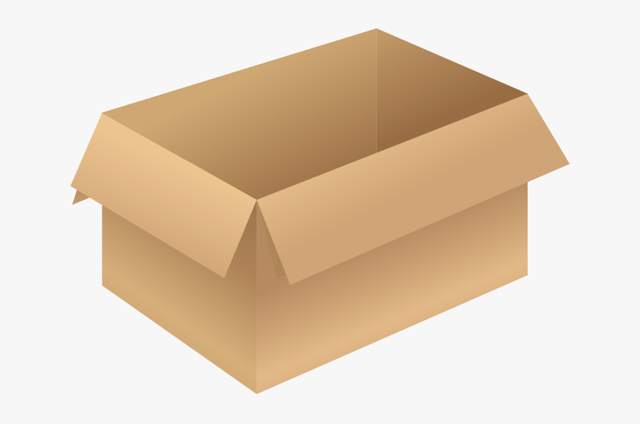 Clip Art Carton Brown Opened Free - Box Opened Png, Transparent Clipart