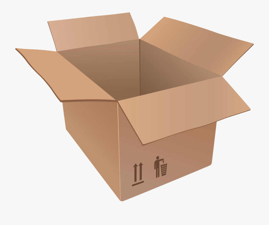 Download Cardboard Box Container Png Transparent Images - Cardboard Box Transparent Background, Transparent Clipart