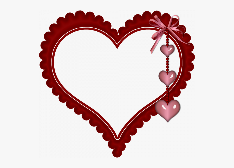 Transparent Scalloped Heart Clipart - Love Heart Frame Png, Transparent Clipart