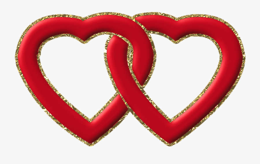 Transparent Two Hearts One Love Clipart - 2 Love Hearts Together, Transparent Clipart