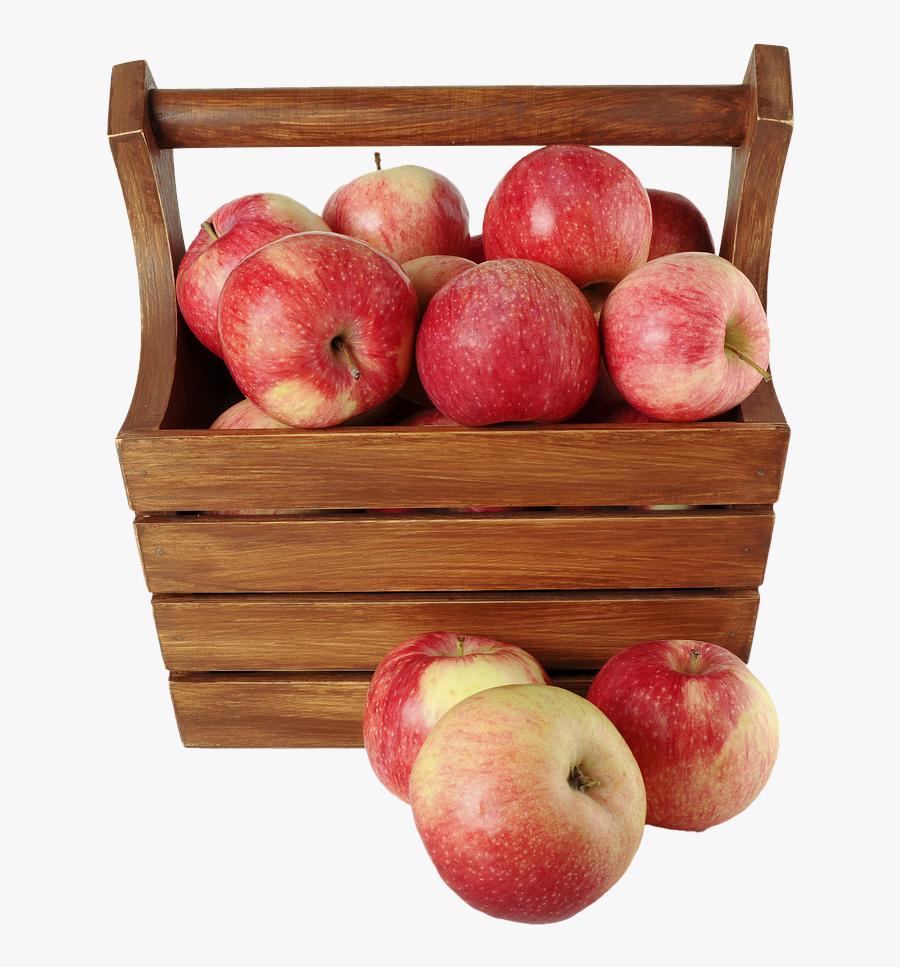 Isolated Apples Fruit - ตะกร้า แอ ป เปิ้ ล, Transparent Clipart