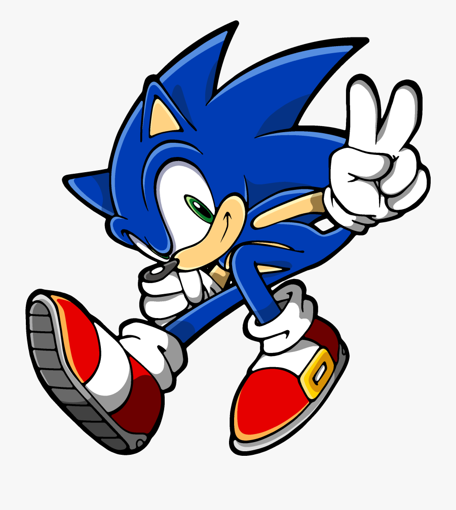 Sonic The Hedgehog Transparent Png Sonic The Hedgehog Cartoon Free Transparent Clipart Clipartkey