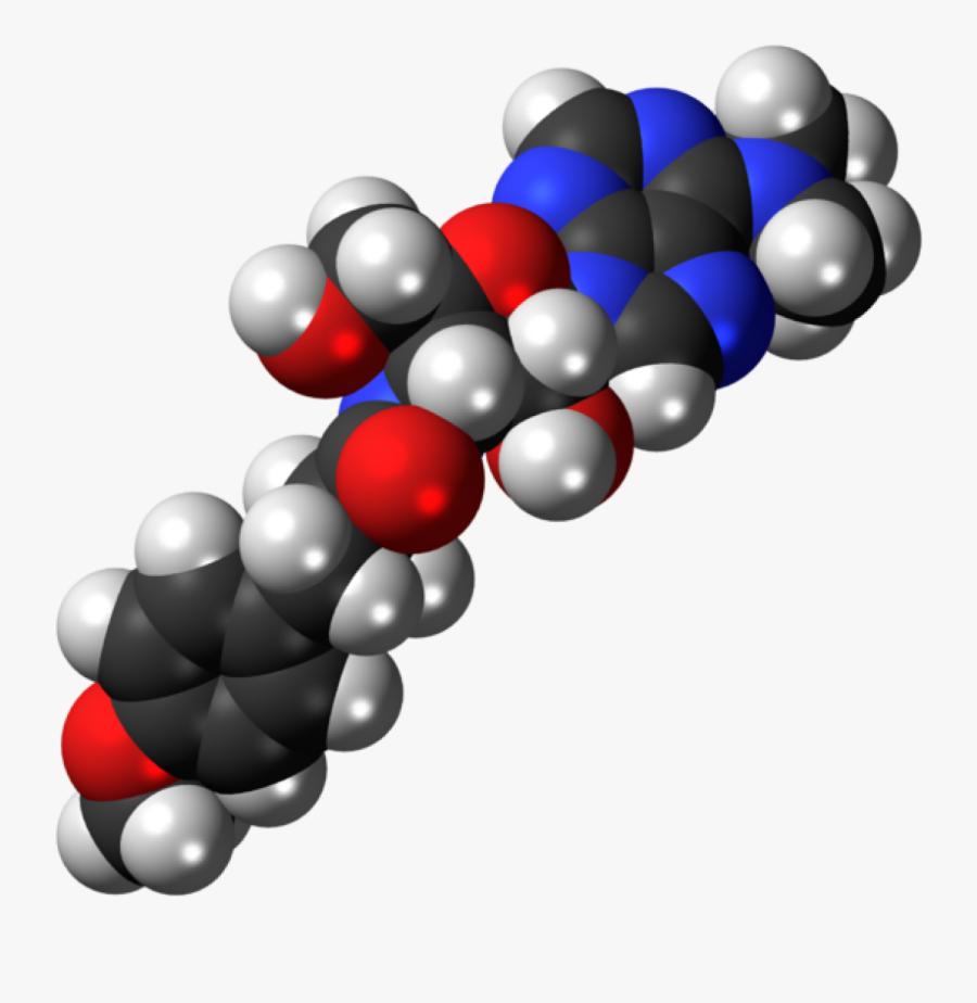 3d Conformation Of Puromycin Antibiotic Clipart , Png - Atp Space Filling Model, Transparent Clipart