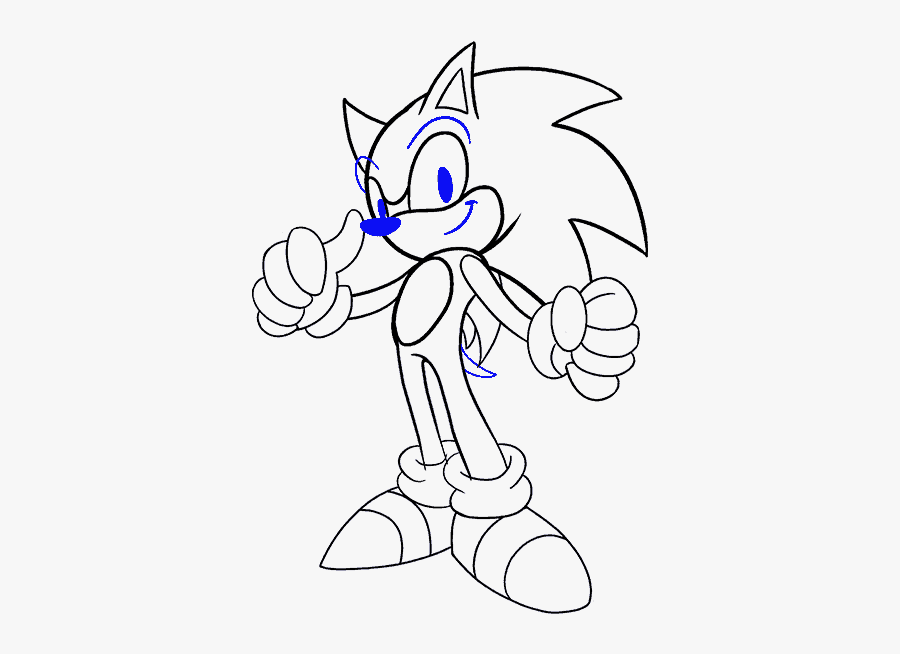 How To Draw Sonic The Hedgehog - Comic Characters How To Draw, Transparent Clipart