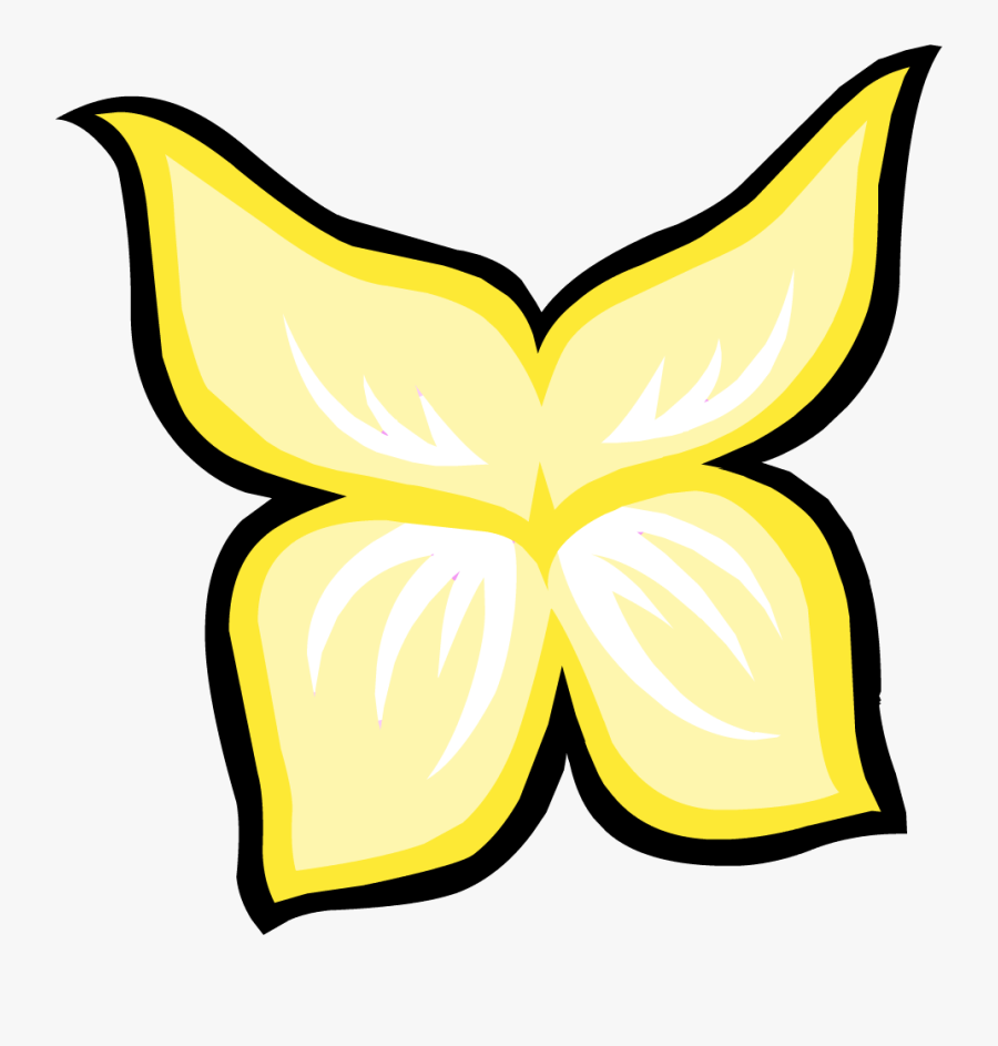 Fairy - Wings - Template - Cute Yellow Fairy Wings Clipart, Transparent Clipart