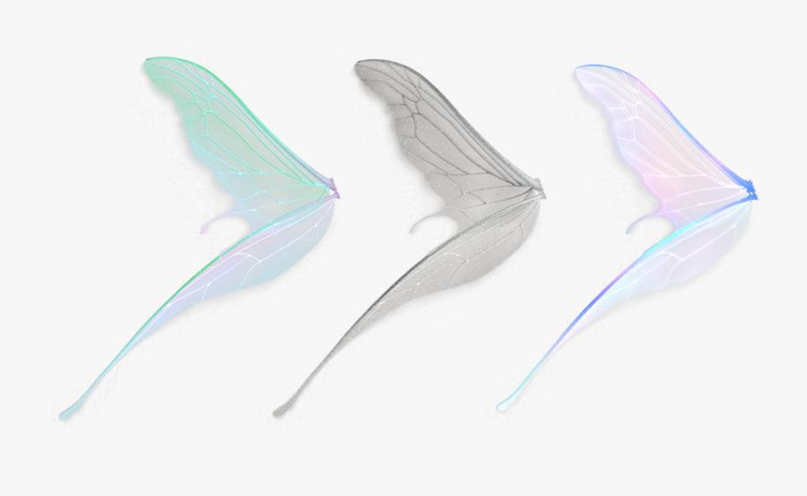 #fairy #wings #magic #stickers #transparent #aesthetic - Side Fairy Wings Png, Transparent Clipart