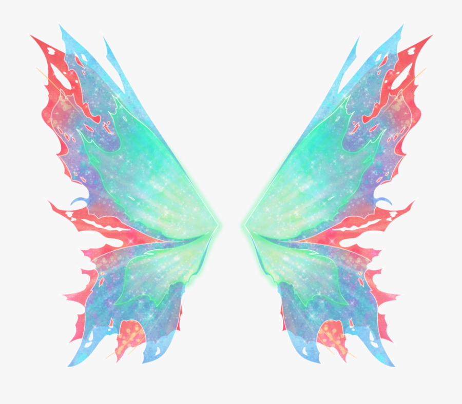 Realistic Fairy Wings Png - Winx Club Mythix Wings, Transparent Clipart