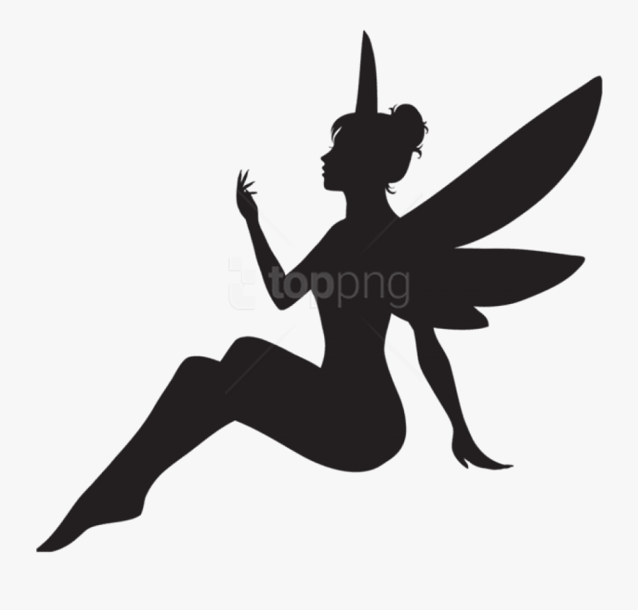 Silhouette Free Images Toppng Transparent Background - Fairy Silhouette Fairy Png, Transparent Clipart