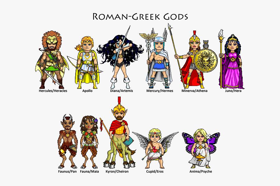 Planet Clipart Roman - Roman Gods, Transparent Clipart