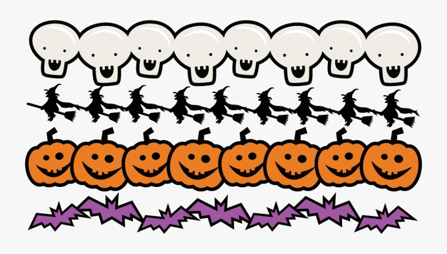 Borders Set Svg Scrapbook - Halloween Clip Art Border, Transparent Clipart