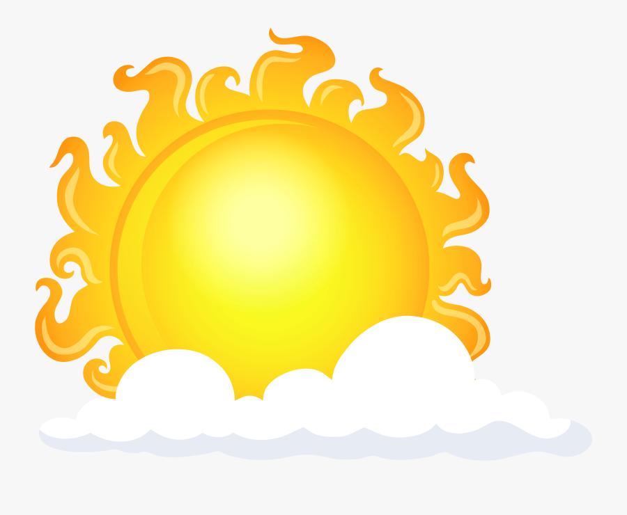 Transparent Cloud Smash 4 Png - Nuvem Sol Em Png, Transparent Clipart