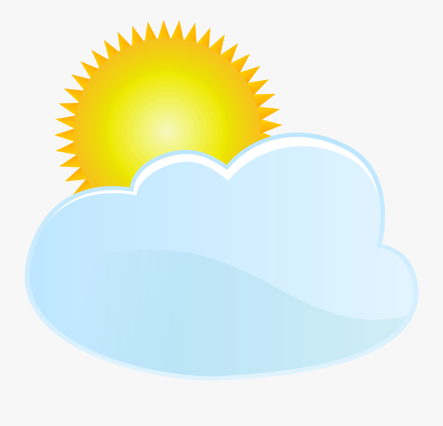 Cloud And Sun Weather Icon Png Clip Art, Transparent Clipart