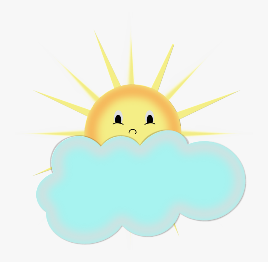 Sun Behind Cloud Modern Clipart - Солнце И Облака Рисунок, Transparent Clipart