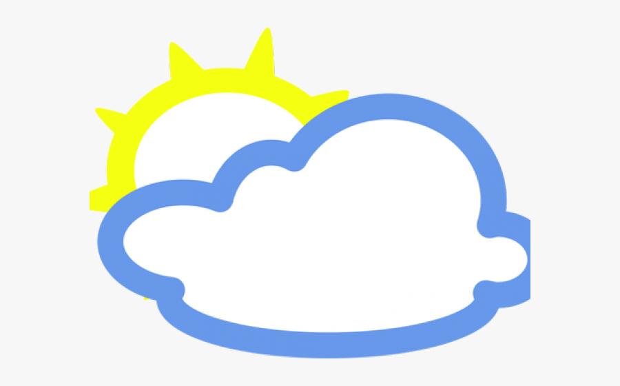 Sun And Clouds Clipart - Weather Symbols, Transparent Clipart