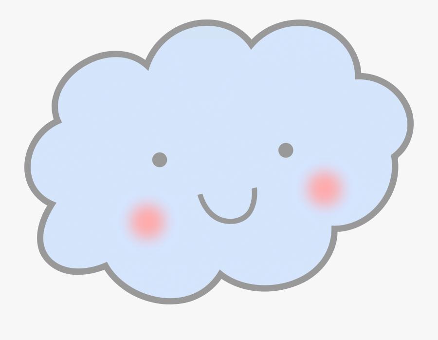 Cute Cloud Clipart - Smile Cloud Png, Transparent Clipart
