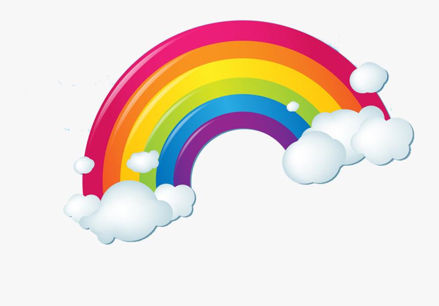 Cartoon Clouds Rainbow, Transparent Clipart