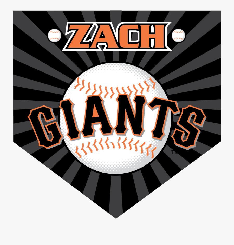 Giants Custom Home Plate Banner - San Francisco Giants Jpg, Transparent Clipart