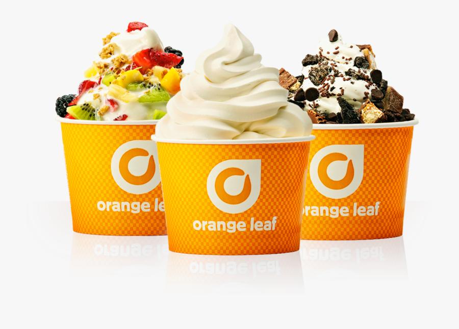 Orange Leaf Franchising Frozen - Orange Leaf, Transparent Clipart