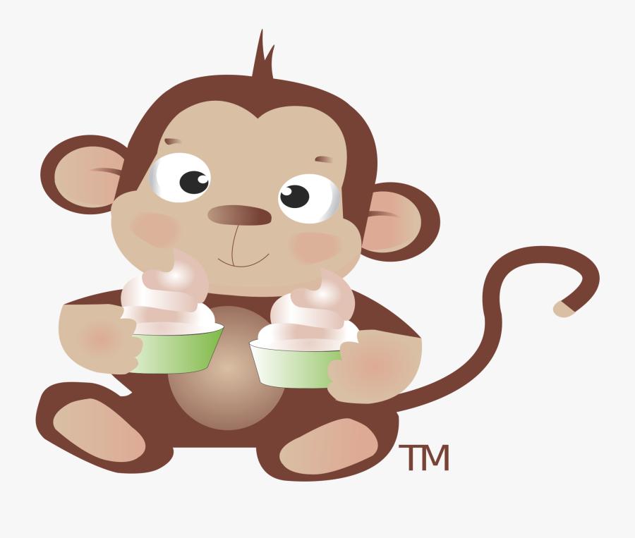 Sweet Monkey Frozen Yogurt, Transparent Clipart