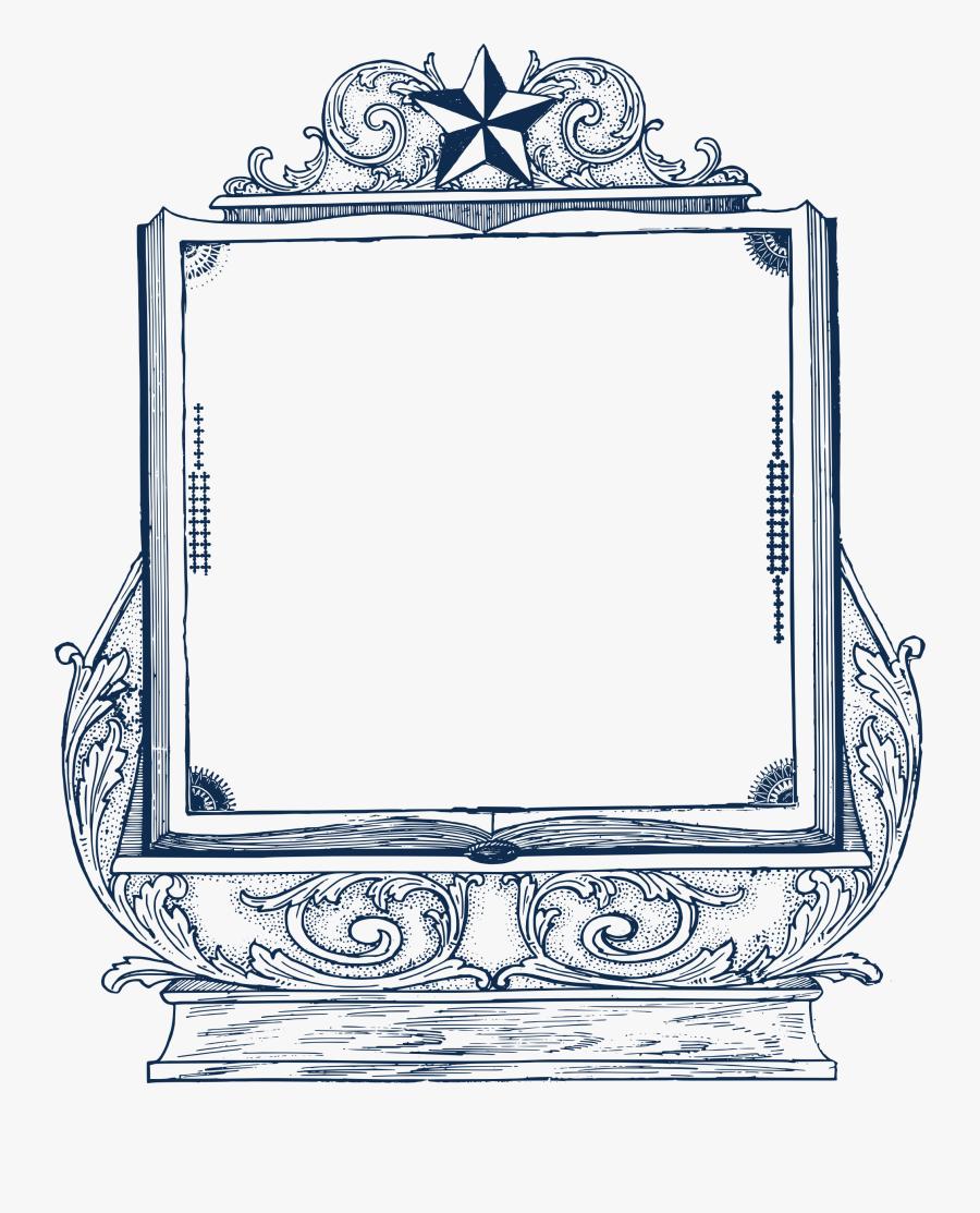 Decorative Book Frame Clip Arts - Book Icon Decoration Png, Transparent Clipart