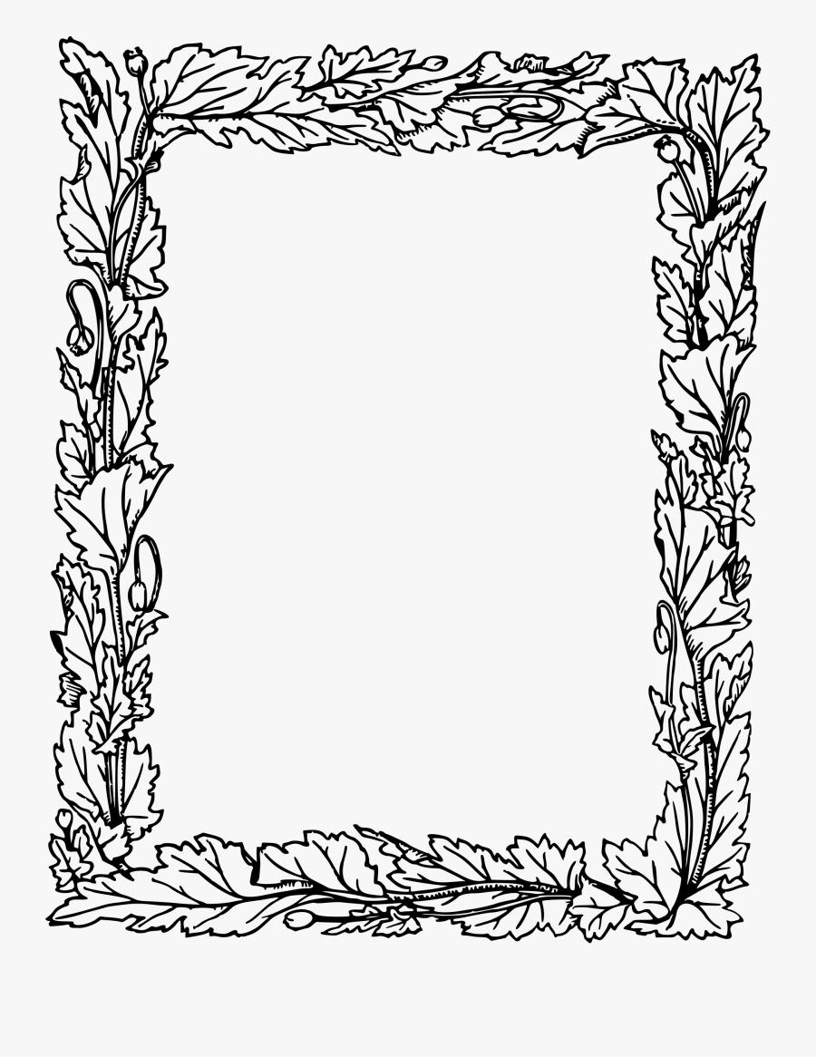 Transparent Rectangular Frame Clipart - New Border Design Simple Black And White, Transparent Clipart