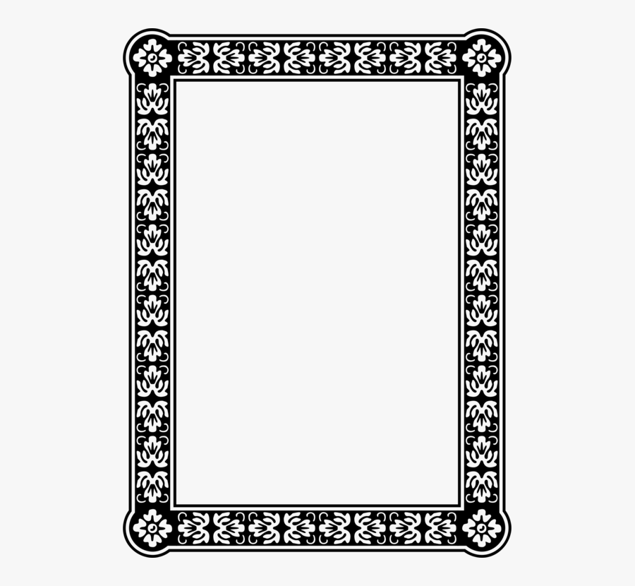Picture Frame,square,area - Polka Dot Border, Transparent Clipart