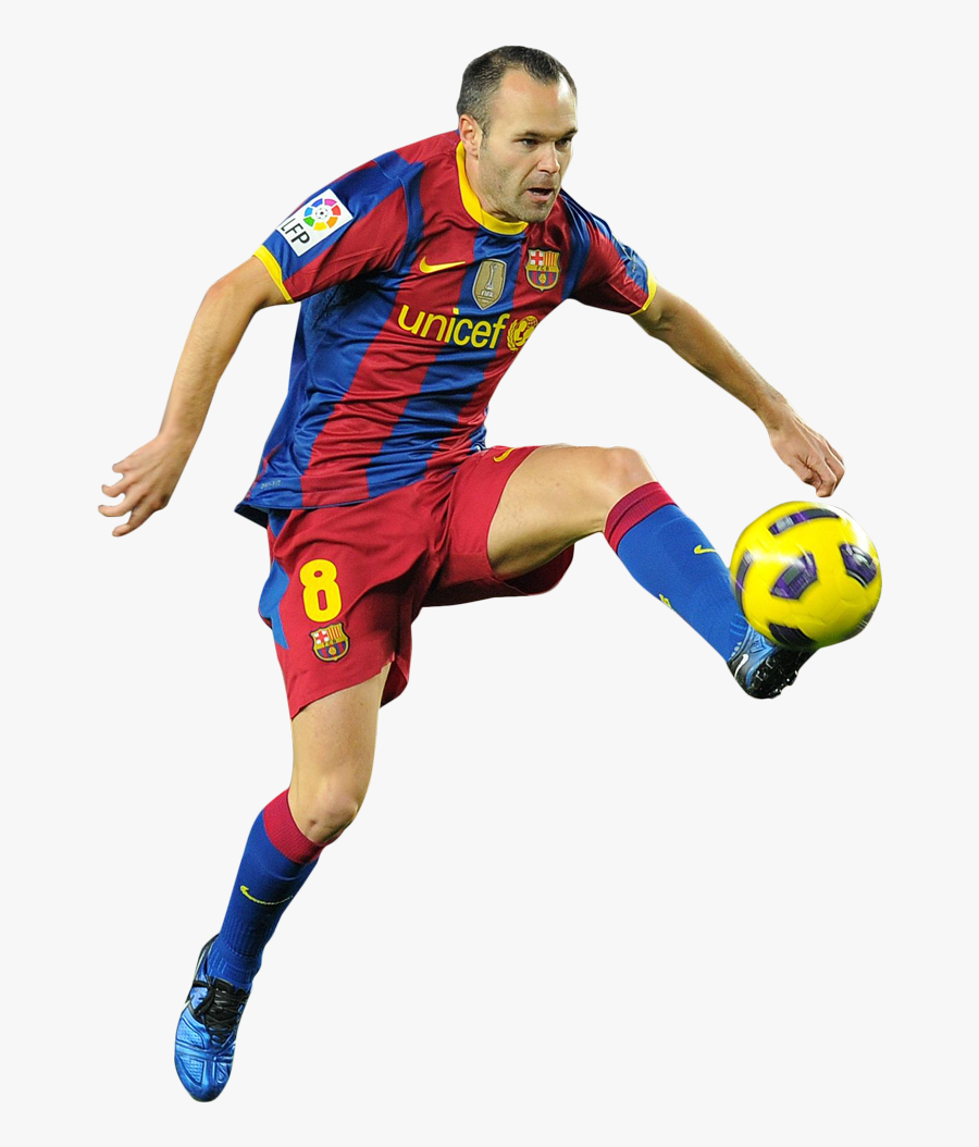 Andres Iniesta Clean Background, Transparent Clipart